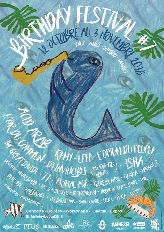 Birthday Festival / The Mighty Bombs + Saint Xavier - l'Amnésie
